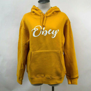 "Obey Box Hoodie Sweatshirt ""Starry Script"" Gold"